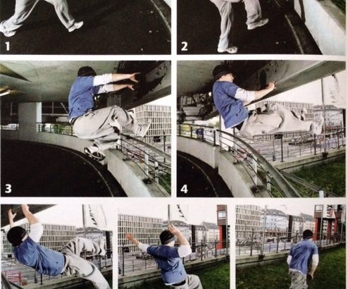 parkour movement sequence